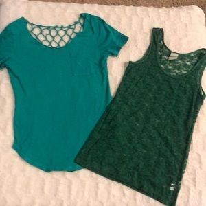 Tops - Green tee and Tank Ser
